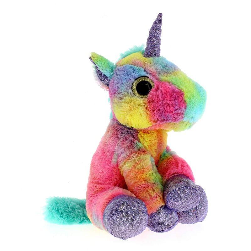 Peluche-Unicornio-Multicolor-Verde-25-cm
