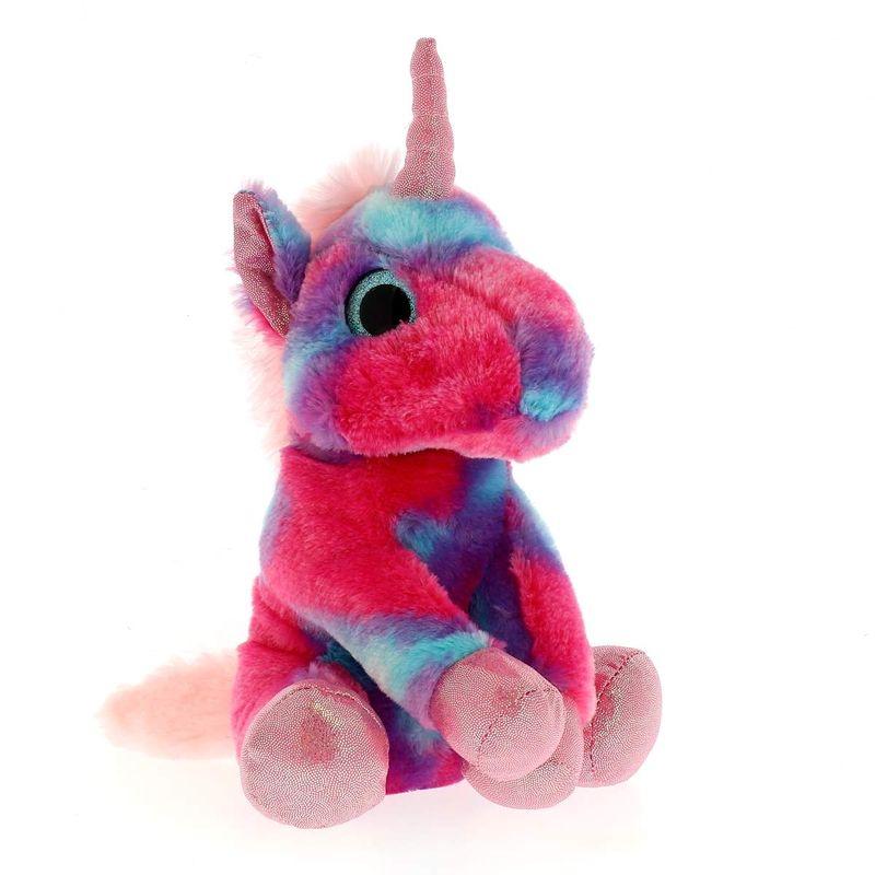Peluche-Unicornio-Multicolor-Rosa-25-cm