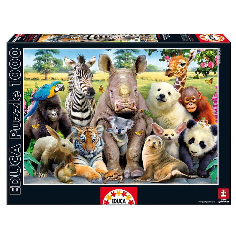 Puzzle-de-Foto-Clase-Animal-de-1000-Piezas