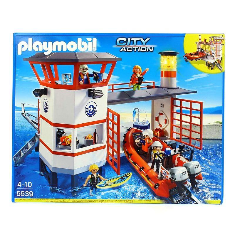 Playmobil-City-Action-Estacion-Guardacostas-con-Faro