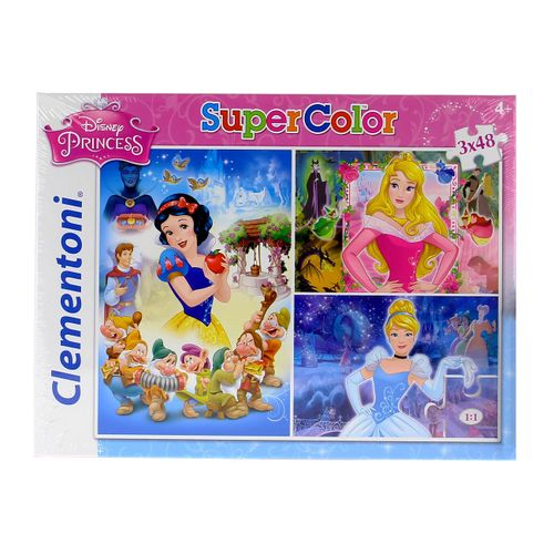 Princesas Puzzle 3 x 48 Pzs