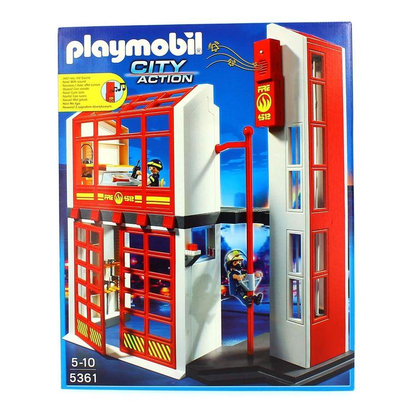 Playmobil-Estacion-de-Bomberos-con-Alarma