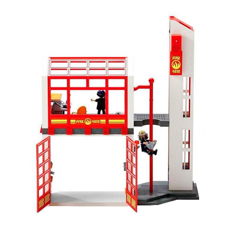 Playmobil-Estacion-de-Bomberos-con-Alarma_1