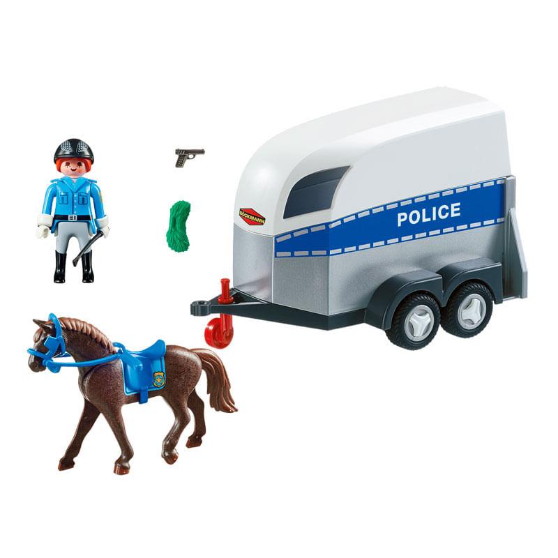 Playmobil-Policia-con-Caballo-y-Remolque_2