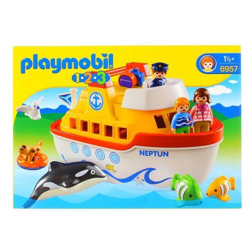 Playmobil 1.2.3 Barco Maletin