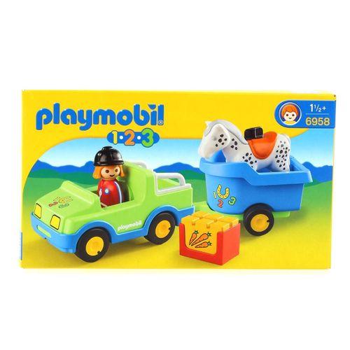 Playmobil 1.2.3 Coche con Remolque
