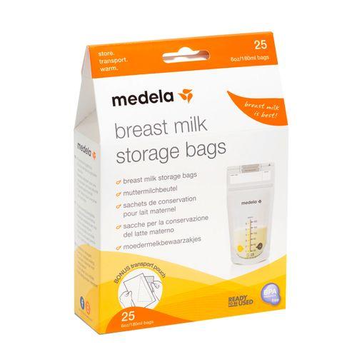 Bolsas 25 unids para almacenar leche materna