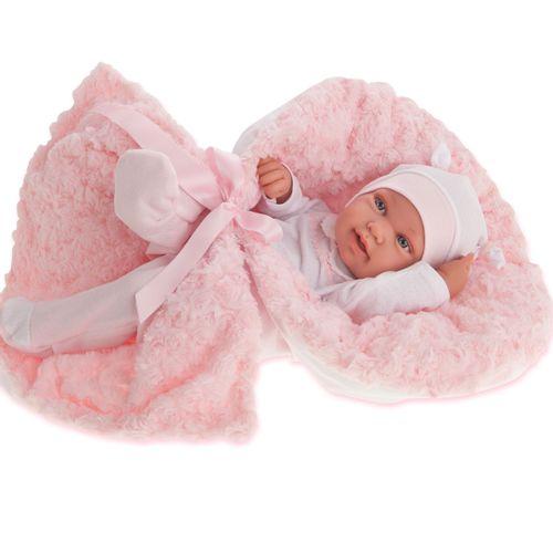Muñeca Bebé Recién Nacida Pipa Arrullo