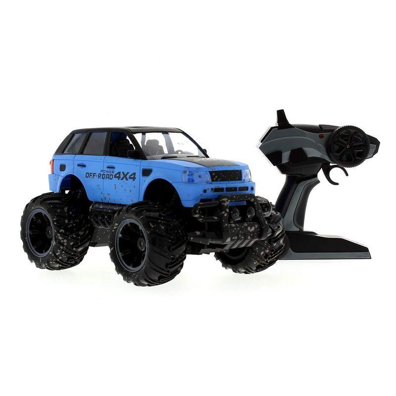 Coche-Mud-azul-4x4-R-C-a-Escala-1-14