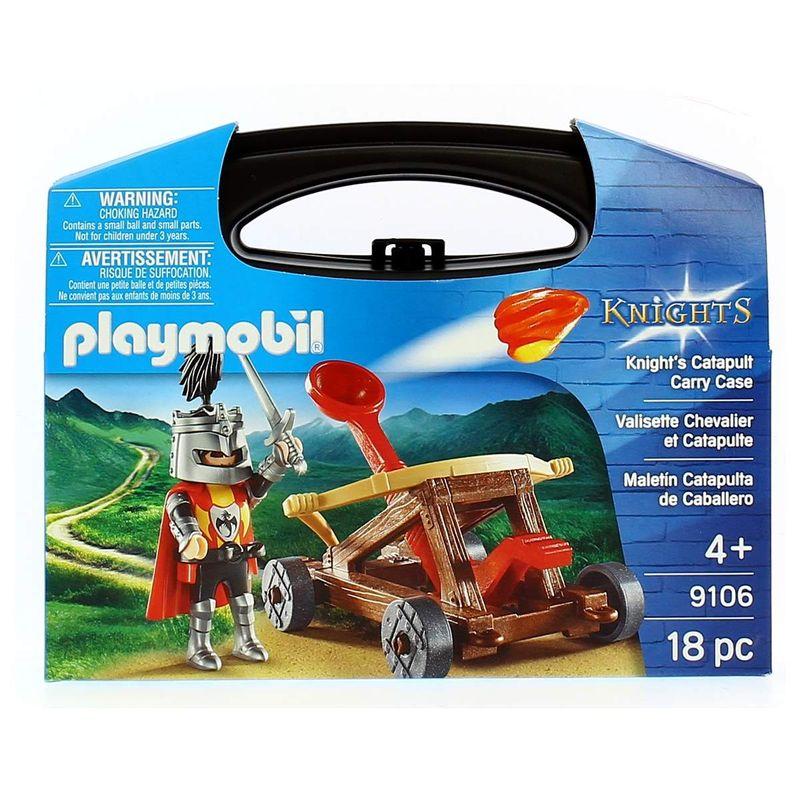 Playmobil-Knights-Maletin-Catapulta-de-Caballero