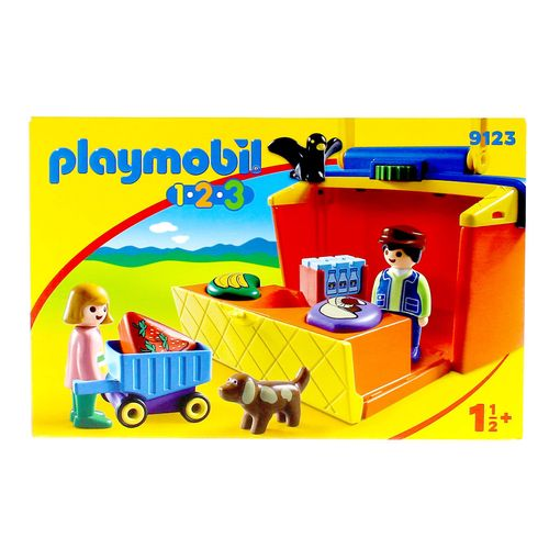 Playmobil 1.2.3 Mercado Maletín