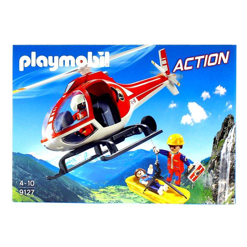 Playmobil-Action-Helicoptero-Rescate-en-la-Montaña