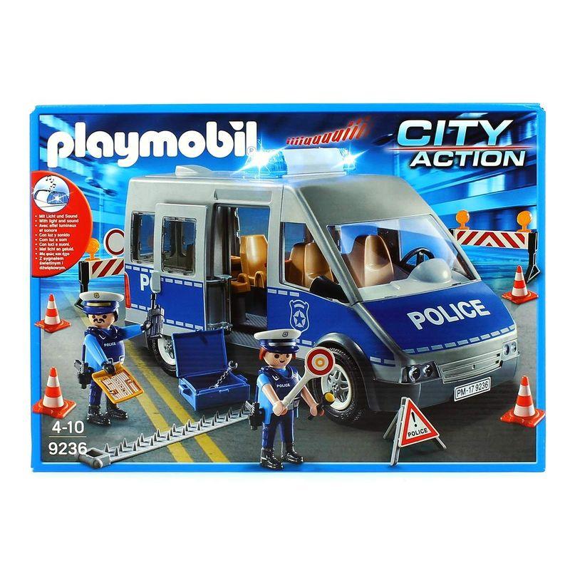 Playmobil-City-Action-Furgon-de-Policia-con-Control-de-Trafico