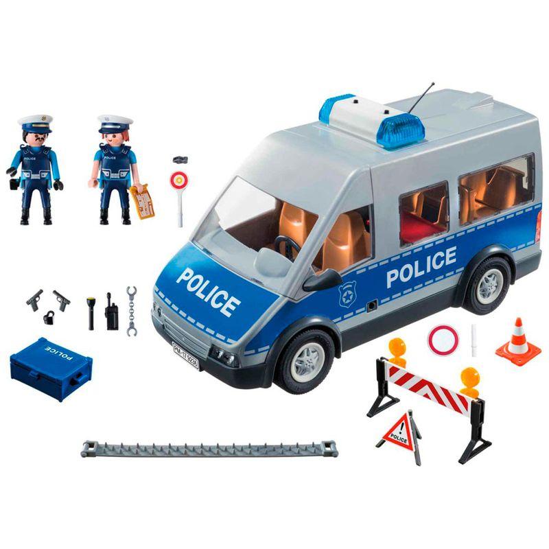Playmobil-City-Action-Furgon-de-Policia-con-Control-de-Trafico_1