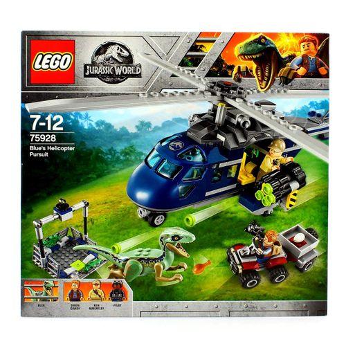 Lego Jurassic World Persecución en Helicóptero de Blue