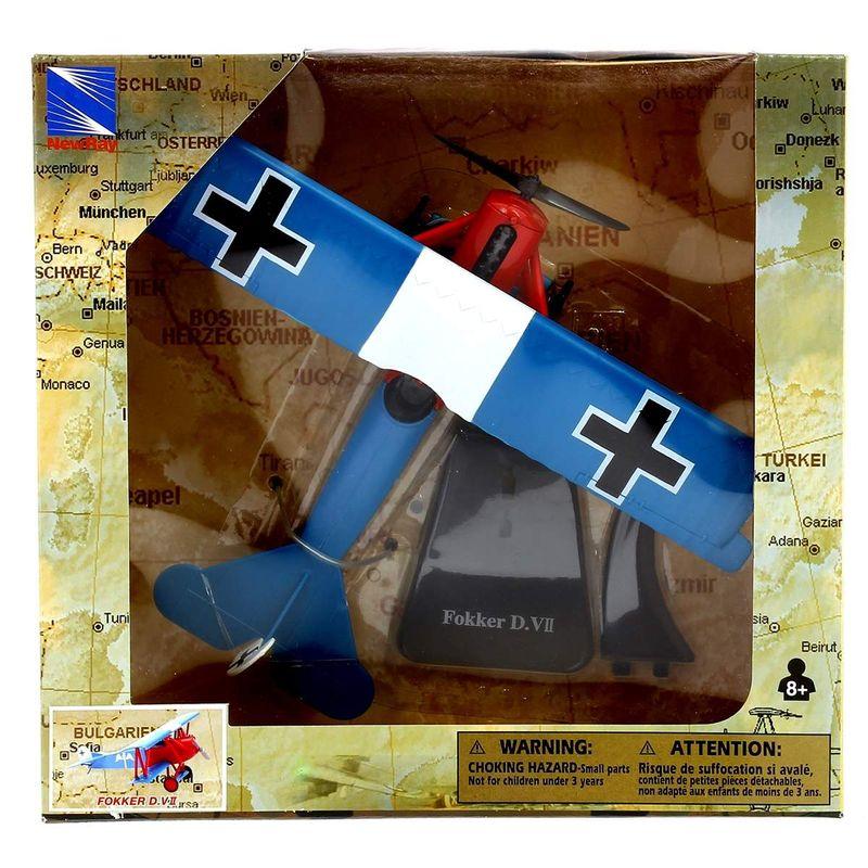 Avion-Bombardero-con-peana-Fokker-DVII-Escala-1-48