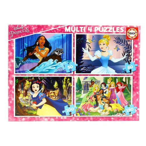 Princesas Disney 4 Multi Puzzles