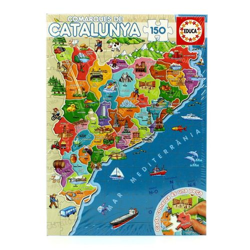 Puzzle Comarques de Catalunya en Catalán