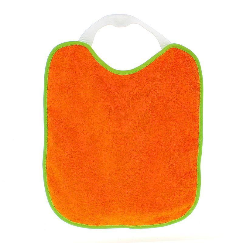 Pack-2-Baberos-rizo-con-goma-cuello-Gris-y-Naranja_2