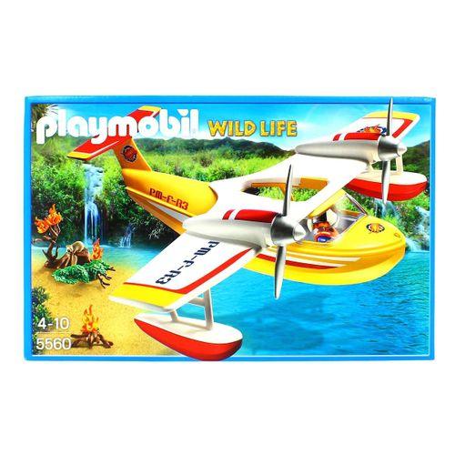 Playmobil Hidroavión Extinción de Incendios