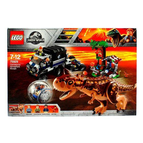Lego Jurassic World Huida del Carnotaurus en la Girosfera