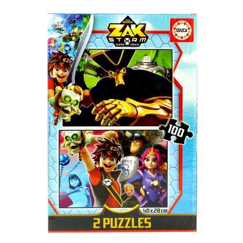 Zak Storm Puzzle 2x100 Piezas