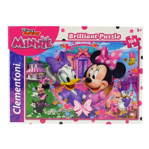 Minnie Puzzle Efecto Diamante de 104 Piezas