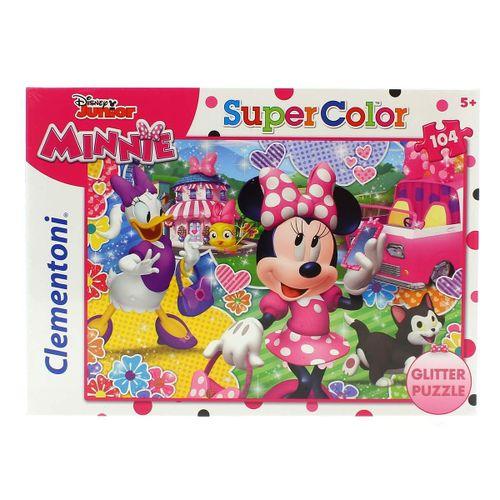 Minnie Mouse Puzzle con Purpurina de 104 Piezas