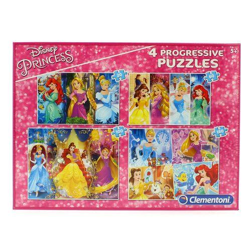 Princesas Disney Conjunto Puzzles Progresivos