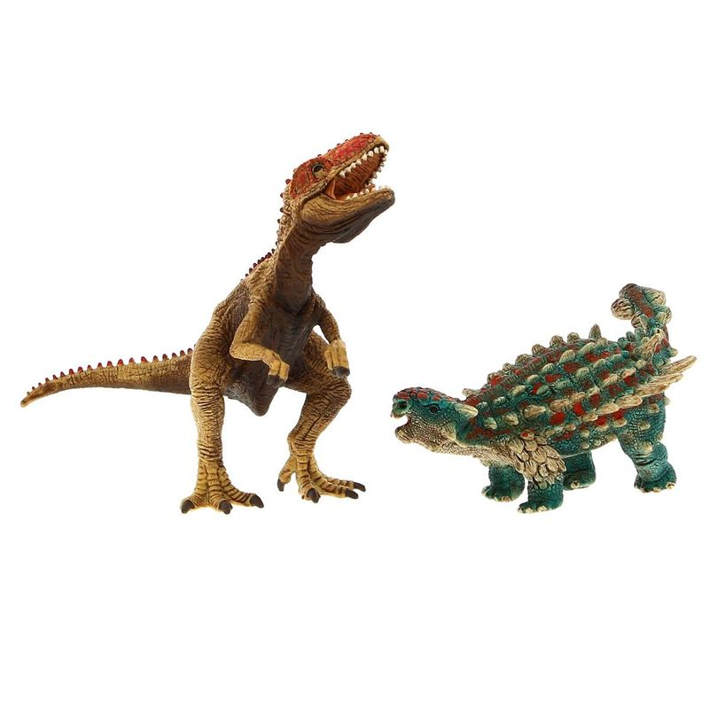 Figura-de-Saichania-y-Giganotosaurus