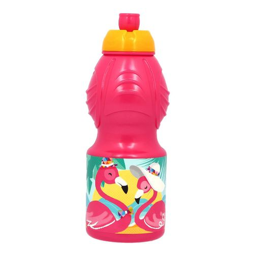 Botella Sport Plástico 400 ml Flamingo