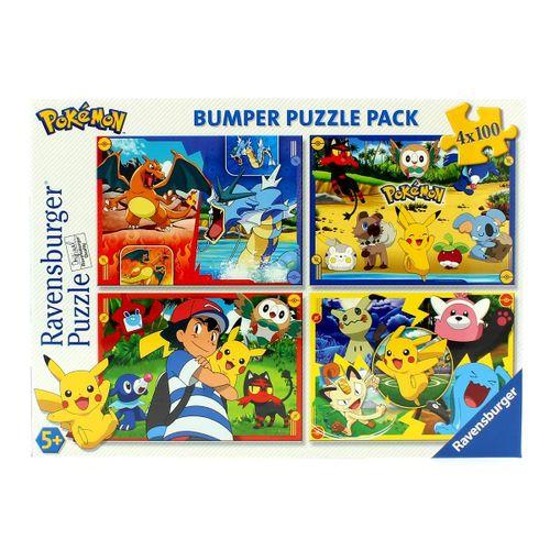 Pokémon Puzzle 4x100 Piezas