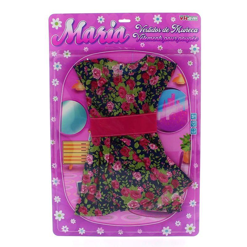 Vestido-Muñeca-85-cm-Flores-Verde