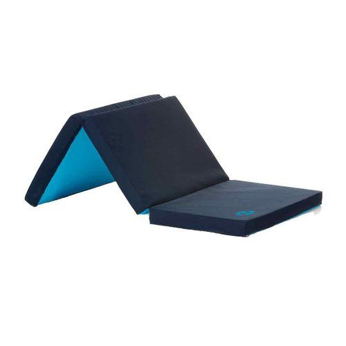 Colchón plegable cuna viaje azul