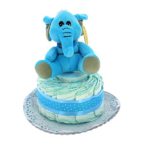 Tarta de Pañales 1 Piso Elefante azul