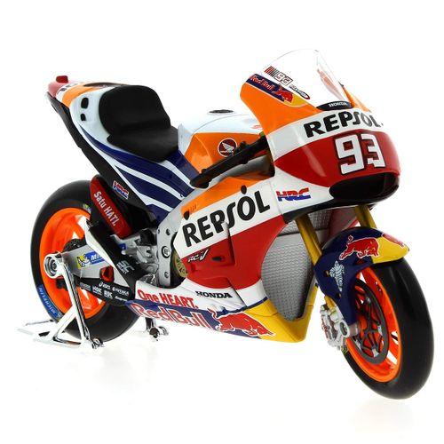 Moto Miniatura Honda Repsol RC213 '14 Marquez Escala 1:10