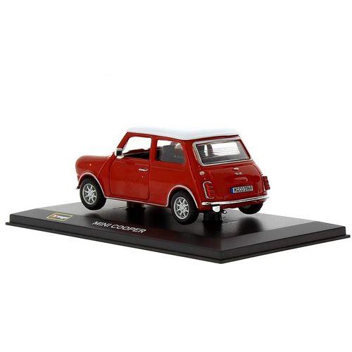 Coche Miniatura Mini Cooper Rojo Peana y caja Escala 1:32