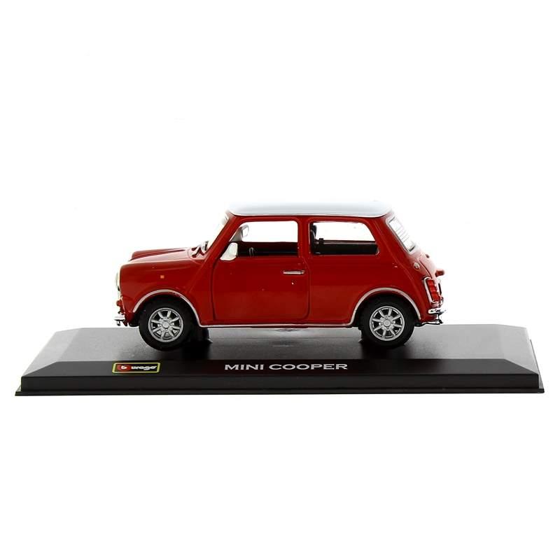 Coche-Miniatura-Mini-Cooper-Rojo-Peana-y-caja-Escala-1-32_1