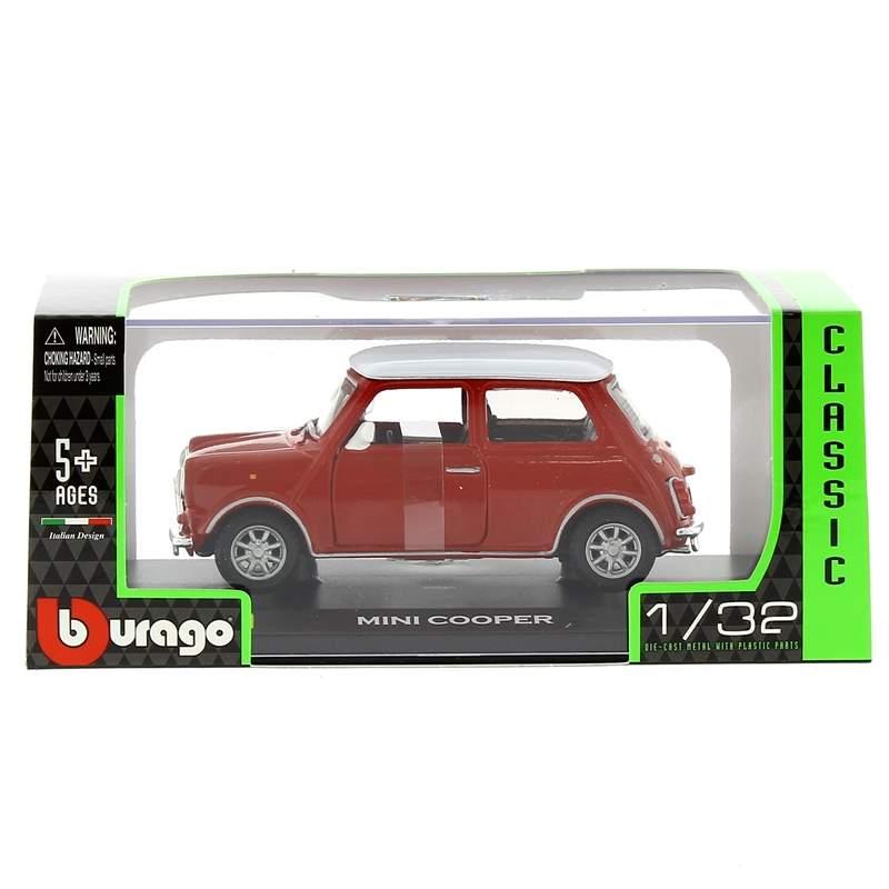 Coche-Miniatura-Mini-Cooper-Rojo-Peana-y-caja-Escala-1-32_2