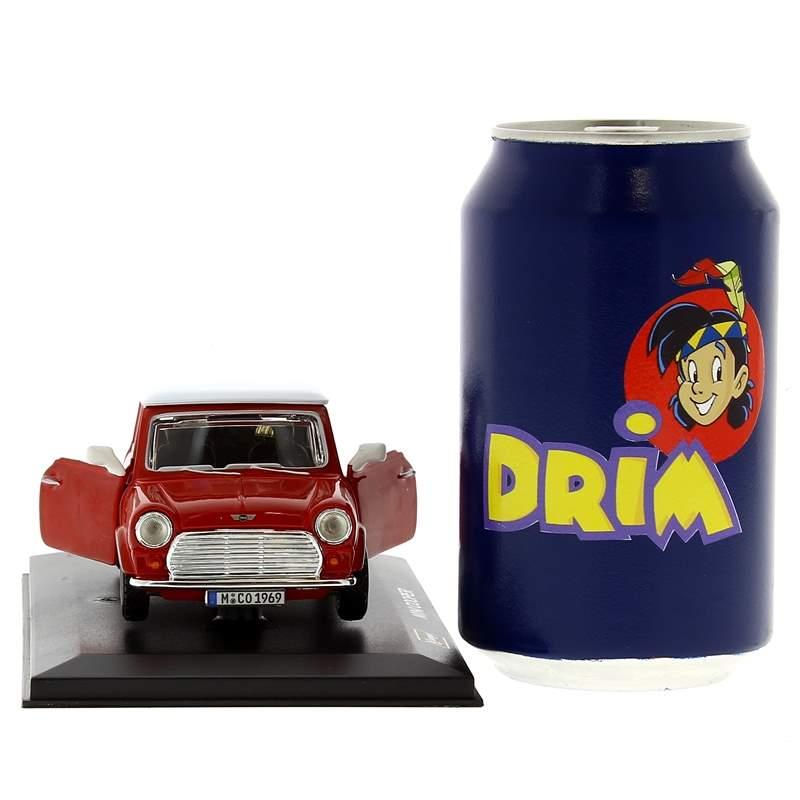Coche-Miniatura-Mini-Cooper-Rojo-Peana-y-caja-Escala-1-32_3