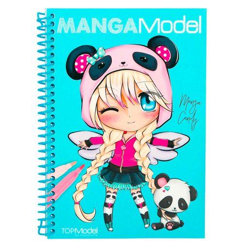 Manga Model Libro para Colorear