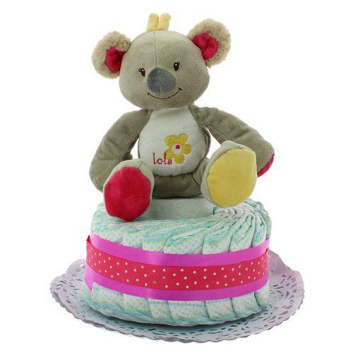 Pastel Pañales Koala Rosa