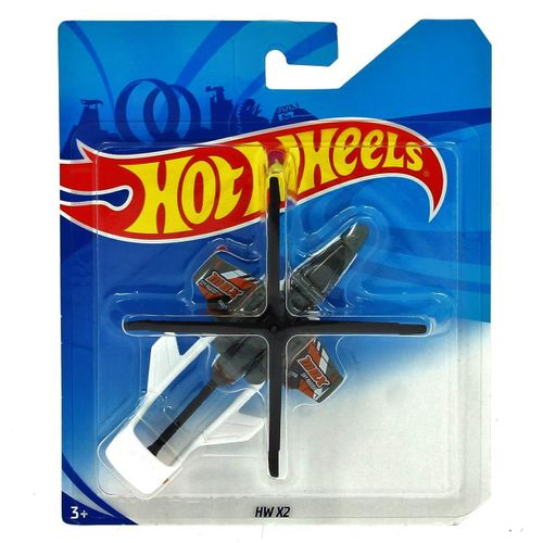 Hot Wheels Helicóptero HW X2 Blanco