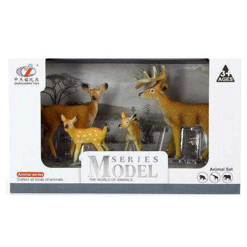 Set de Figuras Familia de Ciervos