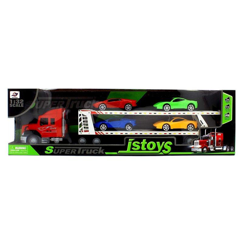 Camion-de-Transporte-Rojo-con-Coches