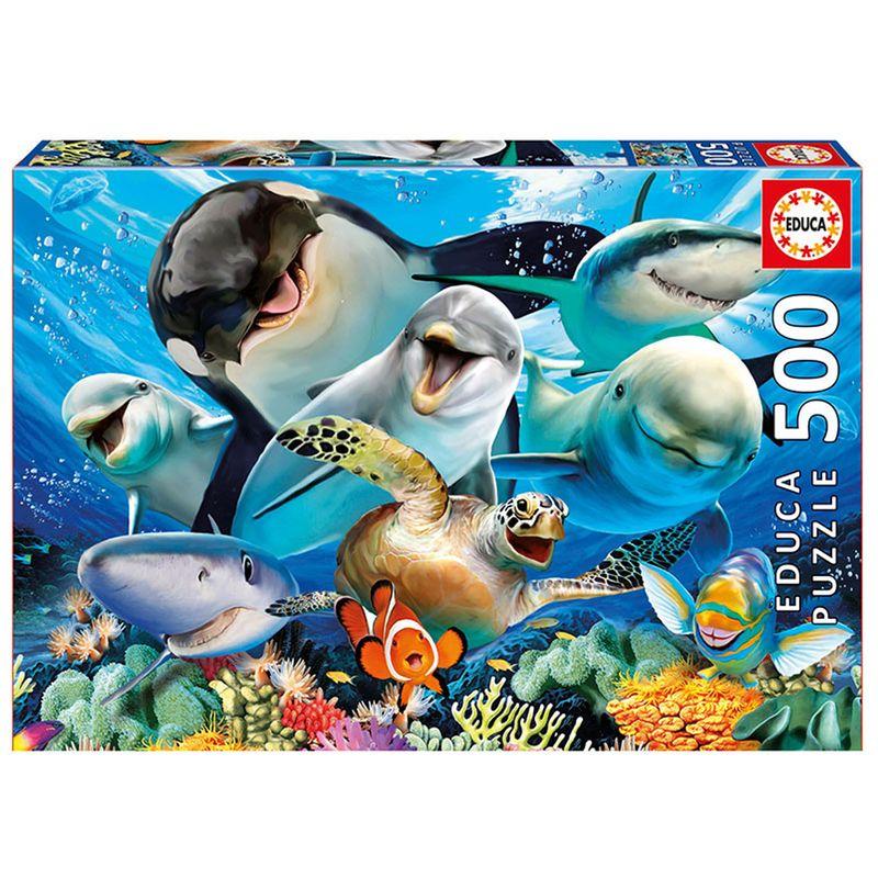 Puzzle-Selfie-Bajo-el-Agua-500-Piezas
