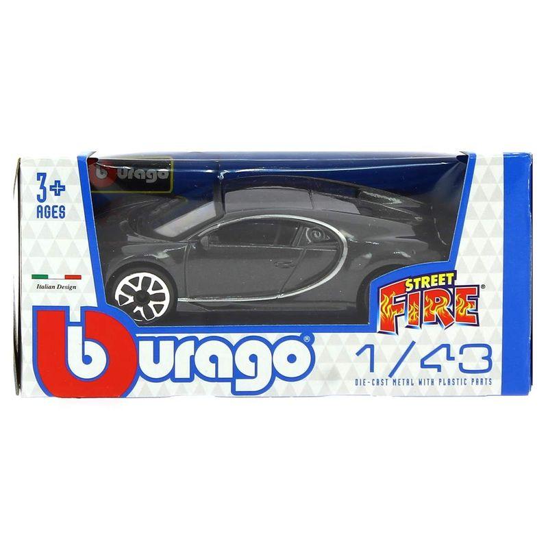 Coche-Miniatura-Street-Fire-Bugatti-Gris-1-43_1