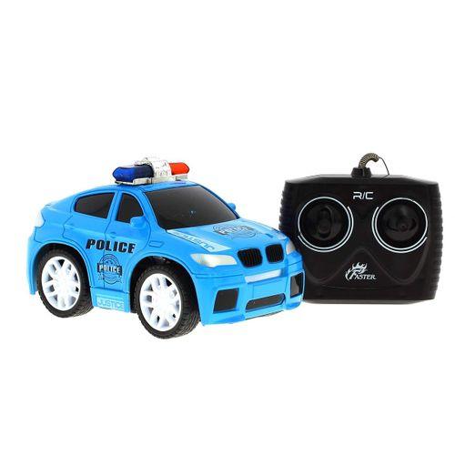 Coche Policía Azul R/C 1:20