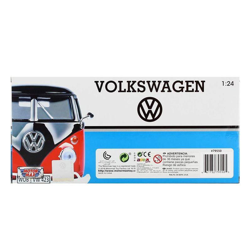 Miniatura-Volkswagen-Van-Marron-Naranja-Surf-1-24_2