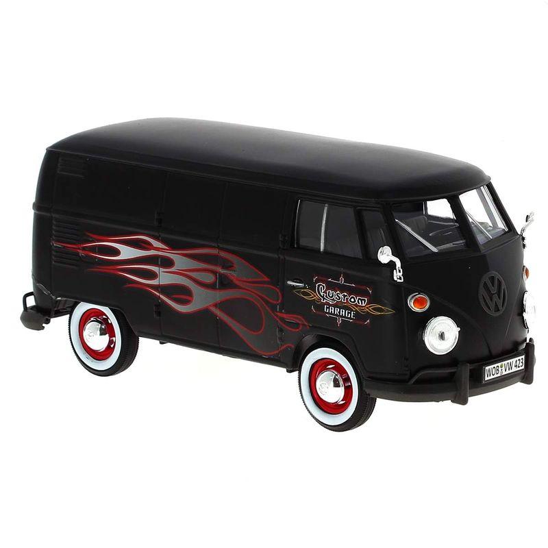 Mniatura-Volkswagen-Van-Negra-Llamas-1-24
